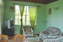 green cottage interior