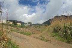 start of unpaved road