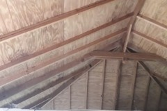 ceiling with exposed rafters