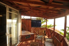 deck with private plunge pool